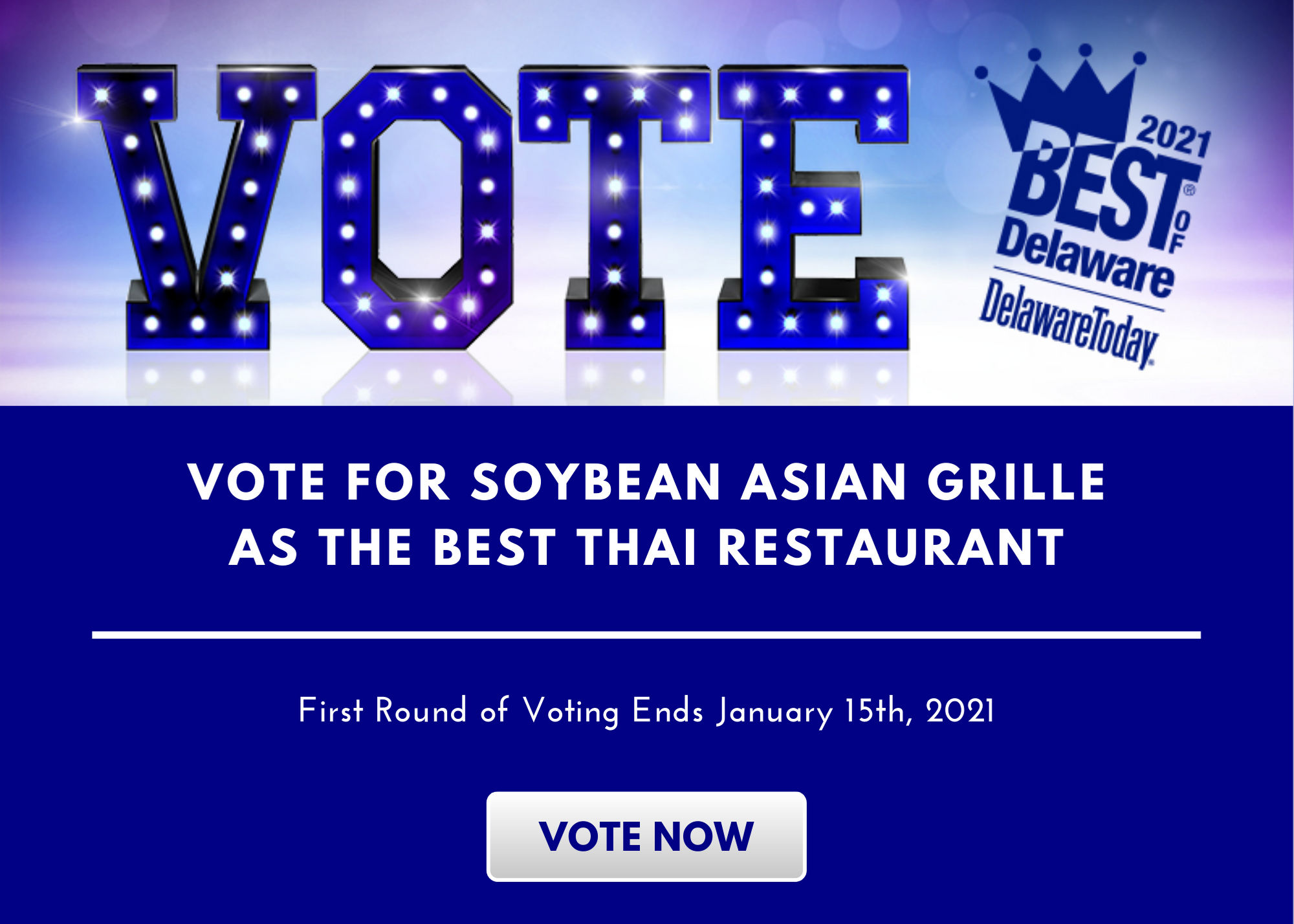 Vote for Soybean Asian Grille in the Best of Delaware 2021